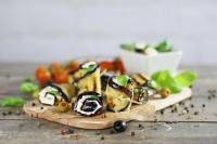 Roládky z grilovaného lilku se sýrem feta